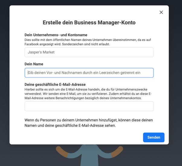 1_Erstellung Business Manager