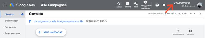 GoogleAds-Kundennummer